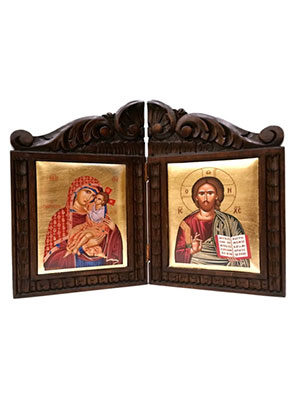 Carved Diptychs with Silkscreen