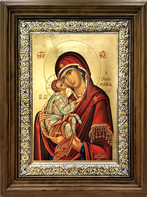 WOODEN ICON 3-DIMENSIONAL WITH TRIPLE FRAME PLUS SILVER FRAME AND SILKSCREEN