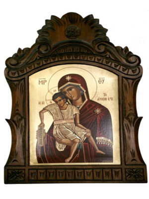 CARVED ICON WITH SILKSCREEN