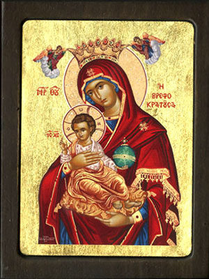 WOODEN ICON WITH SILKSCREEN