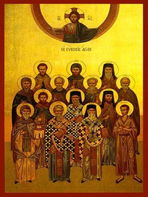 SAINTS FROM EUBOEA, GREECE, FULL BODY