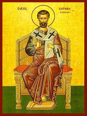 SAINT BARNABAS THE APOSTLE, ENTHRONED