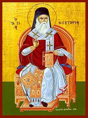 SAINT NECTARIUS, METROPOLITAN OF PENTAPOLIS, ENTHRONED