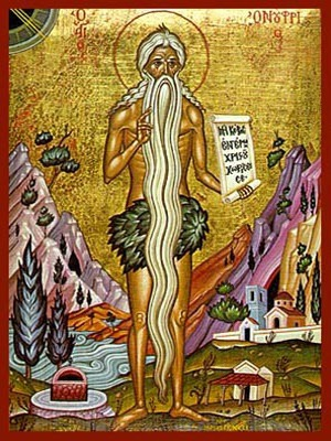 SAINT OΝUPHRIUS OF EGYPT, FULL BODY