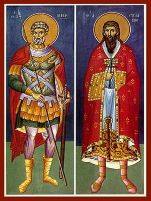 SAINTS MENAS AND EUSTRATIUS, FULL BODY