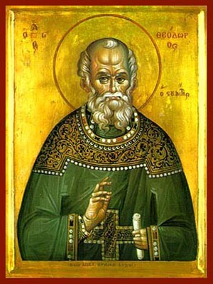 SAINT THEODORE THE CONFESSOR, ABBOT OF THE STUDION