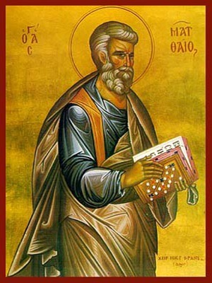 APOSTLE AND EYANGELIST SAINT MATTHEW