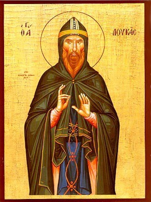 SAINT LUKE OF MOUNT STIRION, GREECE