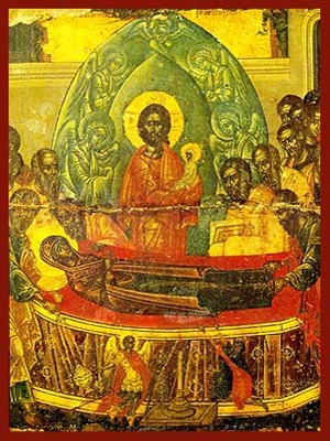 DORMITION OF THEOTOKOS, DETAIL
