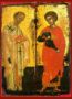 SAINTS NICHOLAS AND GEORGE, FULL BODY