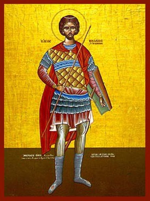 SAINT NICHOLAS, THE NEW MARTYR OF VOUNENA, GREECE, FULL BODY