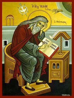 SAINT ISAAC THE SYRIAN, BISHOP OF NINEVEH, ASCETIC WRITER, FULL BODY