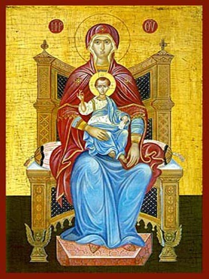 VIRGIN AND CHILD, PLATYTERA ENTHRONED