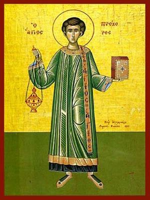 SAINT PROCHORUS THE ΑPOSTLE AND DEACON, FULL BODY