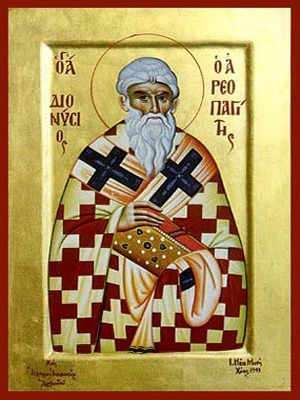 SAINT DIONYSIUS HIEROMARTYR, THE AREOPAGITE OF ATHENS, GREECE