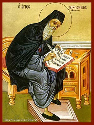 SAINT NICODEMUS OF MOUNT ATHOS, SPIRITUAL WRITER, FULL BODY