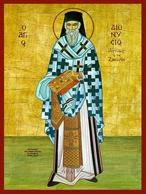 SAINT DIONYSIUS OF ZANTE, GREECE, BISHOP OF AEGINA, FULL BODY