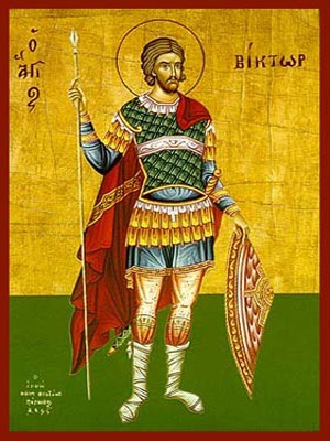 SAINT VICTOR AT DAMASCUS, FULL BODY