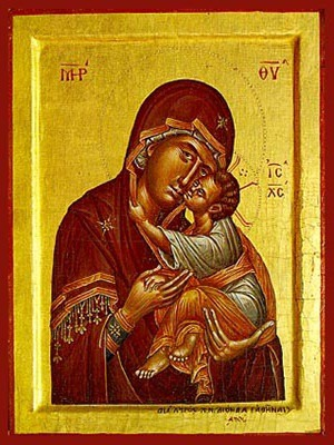 VIRGIN AND CHILD, SWEET KISSING