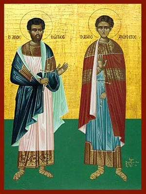 SAINTS PHOTIUS AND ANICETUS OF NICOMEDIA, FULL BODY