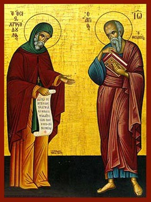 SAINTS CHRISTODOULOS OF PATMOS AND JOHN THE THEOLOGIAN, FULL BODY