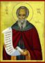 SAINT SABBAS, THE SANCTIFIED - Icon Print on Paper, 6×9cm / 2,4×3,6in
