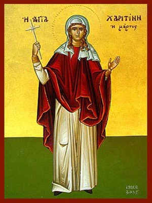 SAINT CHARITINA OF AMISUS, MARTYR, FULL BODY