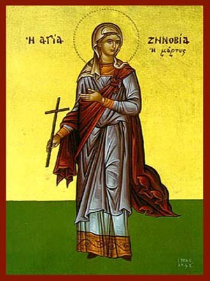 SAINT ZENOBIA, MARTYR, OF AEGAE, CILICIA, FULL BODY