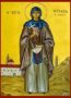 SAINT AGLAE, MARTYR, OF ROME, FULL BODY - Icon Print on Paper, 6×9cm / 2,4×3,6in