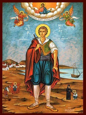SAINT THEOPHILUS OF ZANTE, THE NEW MARTYR, FULL BODY