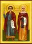 SAINTS GALACTEON AND HIS WIFE EPISTEME, MARTYRS, AT EMESA, FULL BODY