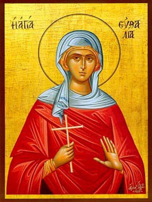 SAINT EUTHALIA , VIRGIN-MARTYR, OF SICILY