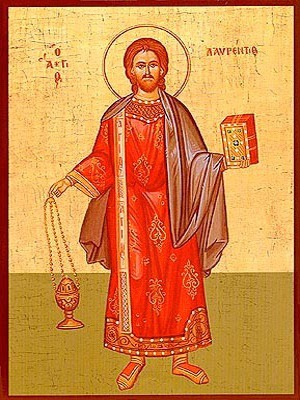 SAINT LAURENCE THE ARCHDEACON, FULL BODY