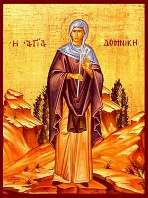 SAINT DOMNICA OF CONSTANTINOPLE, FULL BODY