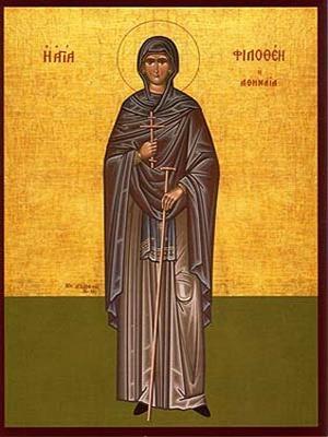 SAINT PHILOTHEA, NUN-MARTYR, OF ATHENS, GREECE, FULL BODY