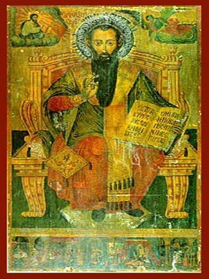 SAINT BASIL THE GREAT, ARCHBISHOP OF CAESAREA, CAPPADOCIA, ENTHRONED