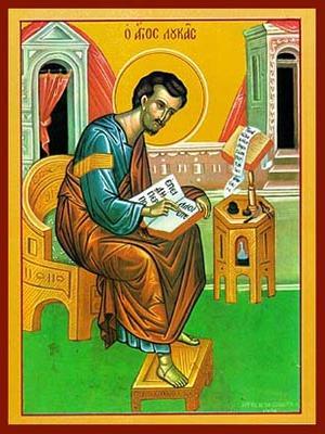 APOSTLE AND EVANGELIST SAINT LUKE, FULL BODY
