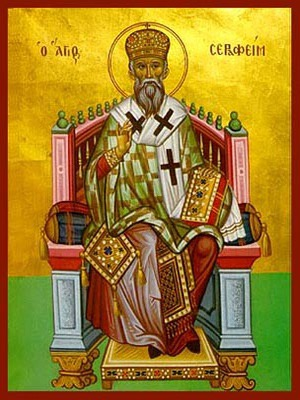 SAINT SERAPHIM, BISHOP OF PHANARION, GREECE, ENTHRONED