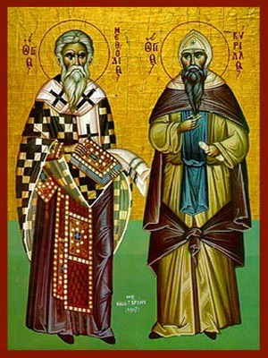 SAINTS METHODIUS AND CYRIL, ENLIGHTENERS OF THE SLAVS, FULL BODY