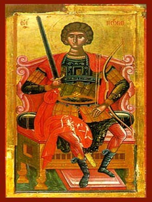 SAINT GEORGE THE GREAT MARTYR, ENTHRONED