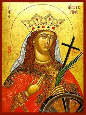 SAINT CATHERINE THE GREAT MARTYR, OF ALEXANDRIA