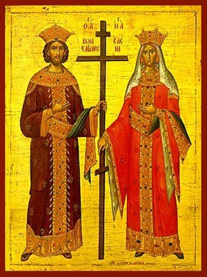 SAINTS CONSTANTINE AND HELEN, FULL BODY