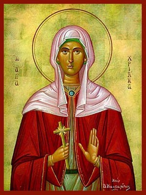 SAINT CHRISTINA, THE GREAT MARTYR, OF TYRE