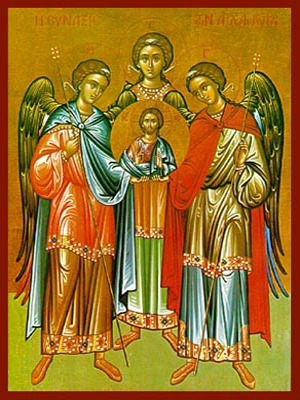 SYNAXIS OF THE HOLY ARCHANGELS MICHAEL, GABRIEL AND RAPHAEL, FULL BODY