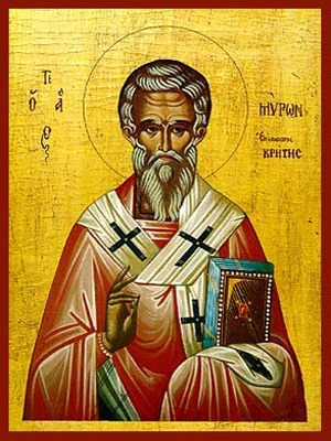 SAINT MYRON, BISHOP OF CRETE, GREECE