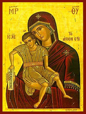 VIRGIN AND CHILD, AXION ESTI (IT IS TRULY MEET)