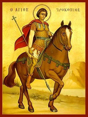 SAINT PROCOPIUS, OF CAESAREA, THE GREAT MARTYR, ON HORSEBACK