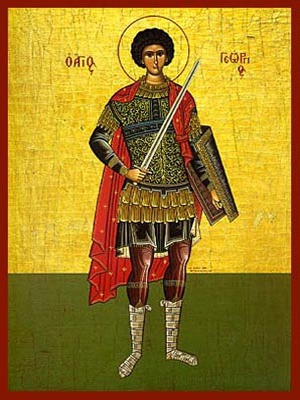 SAINT GEORGE THE GREAT MARTYR, FULL BODY