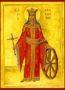 SAINT CATHERINE THE GREAT MARTYR, ΟF ALEXANDRIA, FULL BODY - Icon Print on Paper, 6×9cm / 2,4×3,6in