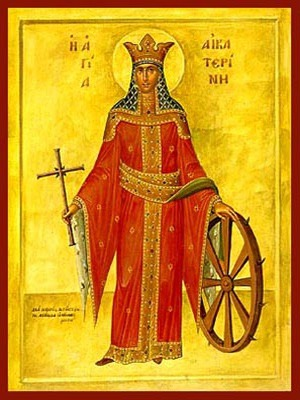 SAINT CATHERINE THE GREAT MARTYR, ΟF ALEXANDRIA, FULL BODY